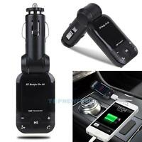 Mini Car Interior Dual USB Charger Bluetooth 3.0 FM Transmitter Radio MP3 Player