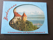 """10 Farbfotos """"Bodensee"""" Mappe (***TOP***) 1960er - Agfacolor"""