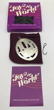 Lunt Sterling Silver 1979 Joy To The World Music of Christmas Ornament Medallion