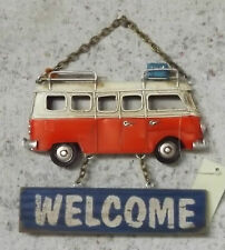 Clayre Eef Deko Türdeko Schild Bus Auto Blechschild Türschild Welcome17x3x19cm