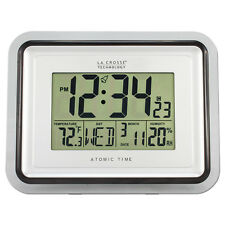 BBB87733 La Crosse Technology Digital Atomic Wall Clock Indoor Temp Refurbished