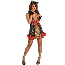 Alley Cat Adult Sexy Leopard Print Small Lingerie Halloween Costume Fancy Dress