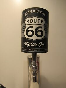 Cool Route 66 oil can Sports Bar Pub Beer Tap Handle Keg Ale Lager Brew