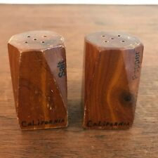 Vintage California Souvenir Wooden Salt and Pepper Shakers (HD11)
