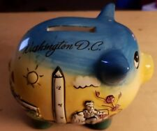Washington D.C. Collectible ceramic piggy bank. Specially MADE IN CHINA!