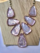 Kendra Scott: Harlow Statement Necklace In Blush Mother Of Pearl NWOT
