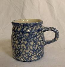 THE WORKSHOP GERALD HENN  Roseville Ohio Blue Spongeware Cup/Mug.