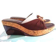 "Donald J Pliner""CHABLI"" Slide Sandals, WALNUT Mesh Elastic Wom's SZ 8.5 B $210"