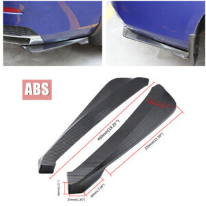 2Pcs Car Bumper Spoiler Rear Lip Diffuser Wrap Angle Shovel Protector