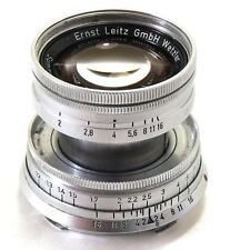 Early radioactifs Leica 50 mm 5 cm f/2 Summicron Lens M Mount EXC + #31425