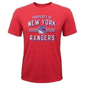 "New York Rangers Youth Boys ""Property Of"" Tri-Blend T-Shirt"