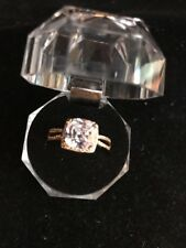 Large Crystal (Transparent color) Ring Gold – Size 10 Fashion Ships N 24h
