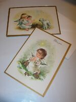 NEW 4 Christmas Cards & 5 ENVELOPES VINTAGE RELIGIOUS ANGEL CHILD MIXED LOT 5X6