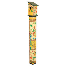 """""""Fly With All Your Heart"""" 5' Birdhouse Garden Art Painted Peace Pole FREE SHIP"""