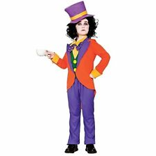 Childs Kids Mad Hatter Wonderland Wonka Book Week Fancy Dress Outfit Costume Hat Large L Size Age 8 9 10 Years
