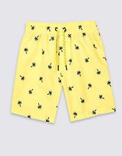 Boys M&S UPF 40+ Palm Tree Print Swimming Shorts 12-18 Mths BNWT