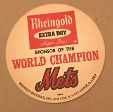 LOT OF 10 RHEINGOLD EXTRA DRY LAGER BEER COASTER 1969 WORLD CHAMPION NY METS