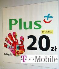 Doladowanie 20 pln PLUS ,HEYAH, T-mobile, Lyca -DOLADUJ z zagranicy /PayPal