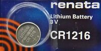 CR 1216 RENATA WATCH BATTERY 1216 ECR1216 FREE SHIPPING Authorized US Seller
