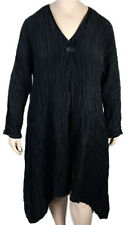 GRIZAS Black XXL Silk Linen Coat / Jacket - FABULOUS & DRAMATIC! NWT Orig. $300
