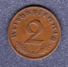 """2  Reichspfennig  Drittes Reich   1936  A  """" Sehr Schön """""""