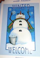 Artist's Touch Flag Snowman Winter Welcome – Brand New
