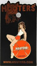 HOOTERS RESTAURANT GIRL ON A BASKETBALL LAPEL PIN - SUPER SPORTS