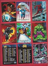 1992 SKYBOX MARVEL MASTERPIECE   Complete Your Set U pick 4 cards NM to Mint