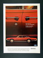 1967 Ford Thunderbird 4-Door red car photo vintage print Ad