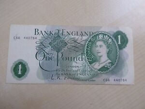 Elizabeth II Bank of England £1 One Pound Banknote Choose J.S. Fforde 1966-1970