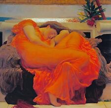 """LORD FREDERICK LEIGHTON, """"Flaming June"""", digital print, Image Size 22""""h x 22""""w"""