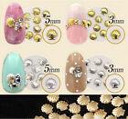 100x 3D Metallic Cute Shell Nail Stickers Nail Tips Decals DIY Nail Art Manicure