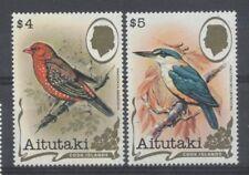 OISEAU Aitutaki 2 val de 1982 ** /2 BIRD VOGEL UCCELLO - BENGALI MARTIN PÊCHEUR