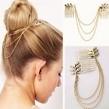 Great Womens Rhinestone Metal Head Chain Headband Headpiece Hair Band Jewelry HC