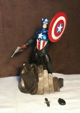"""RARE! Captain America Marvel Action Figure w/Stand 7.5"""" Collectible Figurine"""