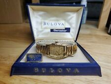 Vintage 1957 Bulova Senator Watch Original Box And Guarantee Bond