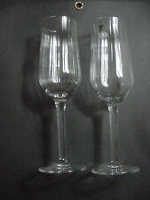 2 Luigi Bormioli Light and Music Champagne Wine Toasting Flutes Glasses Stems