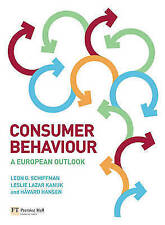 Consumer Behaviour: A European Outlook by Schiffman, Leon G., Kanuk, Leslie Laz