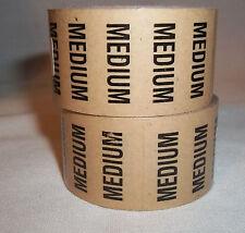 """2 Rolls Medium 5"""" long Size stickers clear peel stick 125 stickers per Roll"""