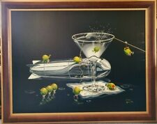 Limited edition print by Michael Godard, framed, signed, Martini Training