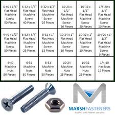 18 8 Stainless Steel Phillips Flat Head Machine Screws Amp Nuts Assortment Kit Set