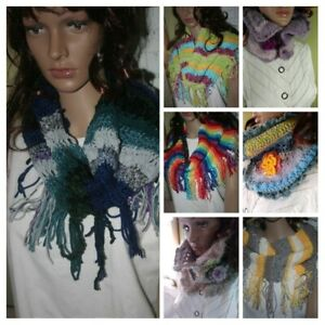 CHOOSE a Hand Knit Crochet Cowl Scarf Neck warmer knit handmade USA #2