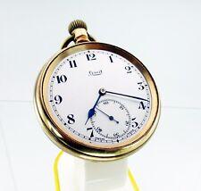 Limit Open Face Double Bottom Swiss Movement Antique Pocket Watch 1900's