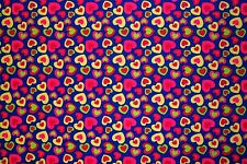 Multicolor Hearts Print #455 Nylon Lycra Spandex 4 Way Stretch Swim Active BTY