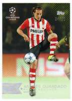 2015 Topps UEFA Champions League Showcase Green Parallel /99 #32 Andres Guardado