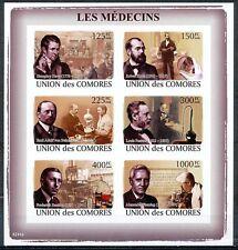 COMORES-2008-LOUIS PASTEUR-Médecins-1 bloc neuf NON dentelé