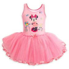 Disney Store Minnie Mouse Deluxe Leotard with Tutu for Girls Costume Fancy Dress