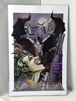 BATMAN vs. JOKER Original Art Illustration Signed Jake Minor Universe M Poster