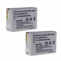 2X Battery Pack For Canon PowerShot G15 SX50 HS Camera NB-10L NB 10L