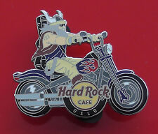 Hard Rock Cafe Metal Pin Badge Oslo Norway Biker Motorcycle Viking on Bike